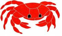 "Artistry in Mosaics - Crab Mosaic, 11"" red"