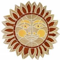 Pool Mosaics - Medallion Mosaics - Artistry in Mosaics - Desert Sun