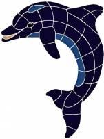 Pool Mosaics - Dolphin Mosaics - Artistry in Mosaics - Dolphin, Classic Upward