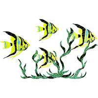 Pool Mosaics - Tropical Fish Mosaics - Artistry in Mosaics - Fish Group in Seagrass