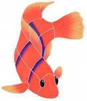Pool Mosaics - Tropical Fish Mosaics - Artistry in Mosaics - Flame Angel Fish right