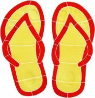 Pool Mosaics - Boardshorts, Bikini & Flip Flop Mosaics - Artistry in Mosaics - Flip Flops Mosaic-red
