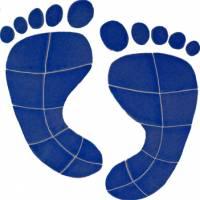 Pool Mosaics - Footprint Mosaics - Artistry in Mosaics - Footprints Mosaic-blue (lg)
