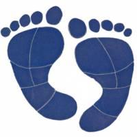 Pool Mosaics - Footprint Mosaics - Artistry in Mosaics - Footprints Mosaic-blue (med)