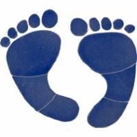 Pool Mosaics - Footprint Mosaics - Artistry in Mosaics - Footprints Mosaic-blue ℠