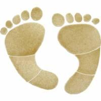 Pool Mosaics - Footprint Mosaics - Artistry in Mosaics - Footprints tan Mosaic