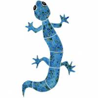 Pool Mosaics - Garden & Pond Mosaics - Artistry in Mosaics - Gecko blue mosaic-small