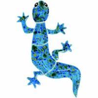 Pool Mosaics - Garden & Pond Mosaics - Artistry in Mosaics - Gecko blue mosaic-baby
