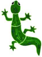 Pool Mosaics - Garden & Pond Mosaics - Artistry in Mosaics - Gecko green mosaic-baby