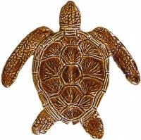 Pool Mosaics - Turtle Mosaics - Artistry in Mosaics - Loggerhead Turtle brown