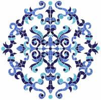 Pool Mosaics - Medallion Mosaics - Artistry in Mosaics - Masterpiece Medallion