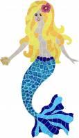 Pool Mosaics - Mermaid Mosaics - Artistry in Mosaics - Polynesian Mermaid blonde Mosaic