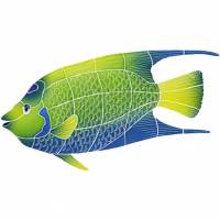 Pool Mosaics - Tropical Fish Mosaics - Artistry in Mosaics - Queen Angel Fish Mosaic-large
