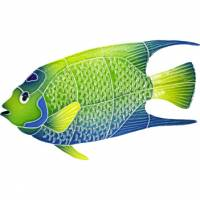 Pool Mosaics - Tropical Fish Mosaics - Artistry in Mosaics - Queen Angel Fish Mosaic-small