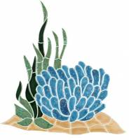 Pool Mosaics - Reef Scene Mosaics - Artistry in Mosaics - Reef Accent, Anemone