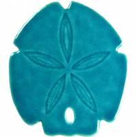 Pool Mosaics - Sand Dollar & Seashell Mosaics - Artistry in Mosaics - Sand Dollar aqua