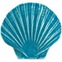 Pool Mosaics - Sand Dollar & Seashell Mosaics - Artistry in Mosaics - Seashell aqua
