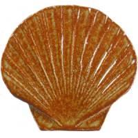 Pool Mosaics - Sand Dollar & Seashell Mosaics - Artistry in Mosaics - Seashell brown