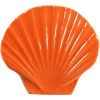 Pool Mosaics - Sand Dollar & Seashell Mosaics - Artistry in Mosaics - Seashell orange