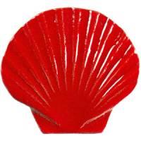 Pool Mosaics - Sand Dollar & Seashell Mosaics - Artistry in Mosaics - Seashell red