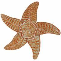 Pool Mosaics - Starfish Mosaics - Artistry in Mosaics - Starfish brown