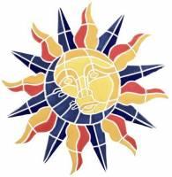 Pool Mosaics - Medallion Mosaics - Artistry in Mosaics - Sun Moon