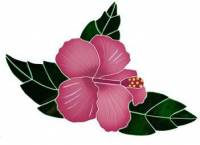 Pool Mosaics - Garden & Pond Mosaics - Artistry in Mosaics - Tropical Hibiscus Mosaic