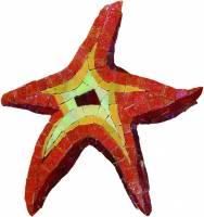 Pool Mosaics - Glass Pool Mosaics - Artistry in Mosaics - Glass Starfish