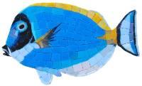 Pool Mosaics - Glass Pool Mosaics - Artistry in Mosaics - Surgeon Fish