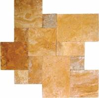 "MS International  - tuscany sienna-versailles pattern pavers-1.18"" thickness"