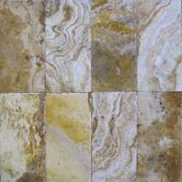 "Decking - Natural Stone Pavers - MS International  - Tuscany Porcini Chiseled Pavers-1.18"" thickness"