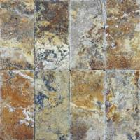 "Decking - Natural Stone Pavers - MS International  - Tuscany Scabos Chiseled Pavers-1.18"" thickness"