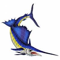 Pool Mosaics - Sport Fish & Shark Mosaics - Artistry in Mosaics - Sailfish Right-Large