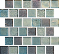 "Pool Tile - Glass Pool Tiles - National Pool Tile - Oceanscapes Surfside 1""x1"""