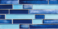 Pool Tile - Glass Pool Tiles - National Pool Tile - Oceanscapes Azure Interlocking