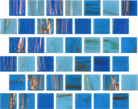 Pool Tile - Glass Pool Tiles - National Pool Tile - Canyon Gems Turquoise Blue