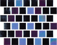 Pool Tile - Glass Pool Tiles - National Pool Tile - Reflections Onyx Moonlight