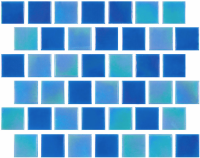Pool Tile - Glass Pool Tiles - National Pool Tile - Reflections Cool Aqua