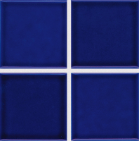 "Pool Tile - 3""x3"" Pool Tiles - National Pool Tile - Marine Cobalt Blue 3x3"
