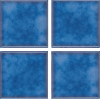 "Pool Tile - 3""x3"" Pool Tiles - National Pool Tile - Akron Field Cloud Olive Blue"