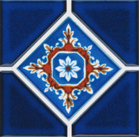 Pool Tile - Trim,Accents&Mosaic Patterns - National Pool Tile - Discovery Blue