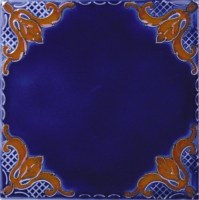 "Pool Tile - 6""x6"" Pool Tiles - National Pool Tile - Casablanca Cobalt Rust Field"