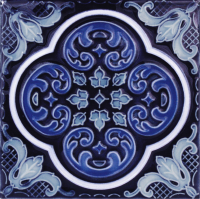 "Pool Tile - 6""x6"" Pool Tiles - National Pool Tile - Casablanca Cobalt Ocean Deco"