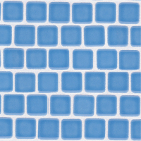 Pool Tile - Trim,Accents&Mosaic Patterns - National Pool Tile - Mini Koyn Sky Blue 1x1
