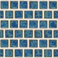 Pool Tile - Trim,Accents&Mosaic Patterns - National Pool Tile - Mini Koyn Pacific Blue 1x1