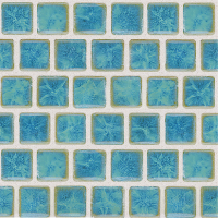Pool Tile - Trim,Accents&Mosaic Patterns - National Pool Tile - Mini Koyn Olive Blue 1x1