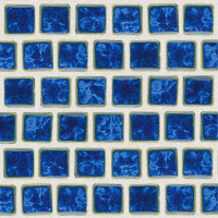 Pool Tile - Trim,Accents&Mosaic Patterns - National Pool Tile - Mini Koyn Lake Blue 1x1