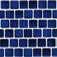 Pool Tile - Trim,Accents&Mosaic Patterns - National Pool Tile - Mini Koyn Royal Blue 1x1