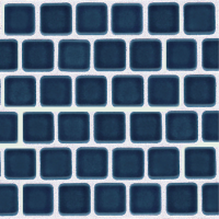Pool Tile - Trim,Accents&Mosaic Patterns - National Pool Tile - Mini Koyn Caribbean Blue 1x1