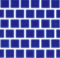Pool Tile - Trim,Accents&Mosaic Patterns - National Pool Tile - Mini Koyn Electric Blue 1x1